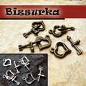 Szív T-kapocs (4 pár) / 2 színben, Gyöngy, ékszerkellék, Egyéb alkatrész, Szív  T-kapocs  választható színek: - Antik bronz - Antik ezüst  Karika mérete: 13 x 16 x 2 mm. Ród ..., Alkotók boltja