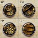 1db Noosa díszpatent 229-240 / 12 típus, Gyöngy, ékszerkellék, Cabochon, Alkotók boltja