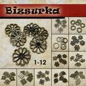 6db antik bronz köztes / 12 típus, Gyöngy, ékszerkellék, Fém köztesek, Választható: 1. strasszozható virág (17x17mm) 2. Ötszirmos virág (20x15mm) 3. Négyzetes (15x1..., Alkotók boltja
