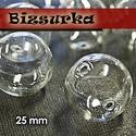 2db fűzhető üveggömb, gyöngy 25 mm-s, Gyöngy, ékszerkellék, Fém köztesek, Fűzhető üveggömb, gyöngy Készíthetsz belőle medált, kulcstartót, fülbevalót.  Feltöltheted apró gyön..., Alkotók boltja