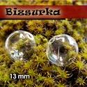 2db fűzhető üveggömb, gyöngy 13 mm-s, Gyöngy, ékszerkellék, Üveg, Ékszerkészítés, Apró fűzhető üveggömb,gyöngy Készíthetsz belőle medált, kulcstartót, fülbevalót.  Feltöltheted apró..., Alkotók boltja