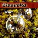 2db fűzhető üveggömb, gyöngy 20 mm-s, Gyöngy, ékszerkellék, Üveg, Fűzhető üveggömb, gyöngy Készíthetsz belőle medált, kulcstartót, fülbevalót.  Feltöltheted apró gyön..., Alkotók boltja