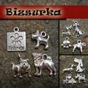 Kutyás medál csomag / 3 típus, Gyöngy, ékszerkellék, Egyéb alkatrész, Antik ezüst kutya csomag  3.csomag tartalma: - 1db Friends tábla 18x13 mm - 1db kutya 14x12 mm - 1..., Alkotók boltja