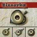 18-as Noosa medál bronz színű / 4 típus, Gyöngy, ékszerkellék, Egyéb alkatrész, Noosa medál, antik bronz színű.  Választható: 1 - szív 2 - kerek (35x48) 3 - kalitka 4 - Tibet..., Alkotók boltja