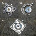 Patentos Noosa medál ezüst színű, 9-11 típus, Gyöngy, ékszerkellék, Alkotók boltja