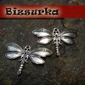 2db Antik ezüst szitakötő charm, Gyöngy, ékszerkellék, Gyönyörű, antik ezüst szitakötő charm  Méret: 44 x 21mm  Akár egy nyakláncra akár egy bőrszálra fűzv..., Alkotók boltja
