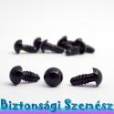 10 mm-es biztonsági szem fekete 10 db (5 pár), Gomb, Bábkészítés, mackóvarrás, Varrás, Kötés, horgolás, Szépen csillogó felületű, szemet gyönyörködtető biztonsági szemek mosás- és gyerekbiztos hátsó réss..., Alkotók boltja