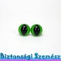 12 mm-es biztonsági macskaszem zöld 2 db (1 pár), Gomb, Bábkészítés, mackóvarrás, Kötés, horgolás, Varrás, Szépen csillogó felületű, szemet gyönyörködtető biztonsági macskaszemek mosás- és gyerekbiztos háts..., Alkotók boltja