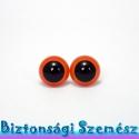 12 mm-es biztonsági szem narancssárga 2 db (1 pár), Gomb, Bábkészítés, mackóvarrás, Kötés, horgolás, Varrás, Szépen csillogó felületű, szemet gyönyörködtető biztonsági szemek mosás- és gyerekbiztos hátsó réss..., Alkotók boltja