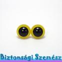 12 mm-es biztonsági szem citromsárga 2 db (1 pár), Gomb, Bábkészítés, mackóvarrás, Kötés, horgolás, Varrás, Szépen csillogó felületű, szemet gyönyörködtető biztonsági szemek mosás- és gyerekbiztos hátsó réss..., Alkotók boltja