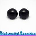 22 mm-es biztonsági szem fekete 2 db (1 pár), Gomb, Szépen csillogó felületű, szemet gyönyörködtető biztonsági szemek mosás- és gyerekbiztos hátsó réssz..., Alkotók boltja