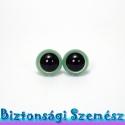 12 mm-es biztonsági szem metálzöld 2 db (1 pár), Szerszámok, eszközök, Eszköz kötéshez, horgoláshoz, Szépen csillogó felületű, szemet gyönyörködtető biztonsági szemek mosás- és gyerekbiztos hátsó réssz..., Alkotók boltja