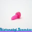 12 mm-es biztonsági bársonyos orr rózsaszín 1 db, Gomb, Alkotók boltja