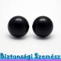 20 mm-es biztonsági szem fekete 2 db (1 pár), Gomb, Szépen csillogó felületű, szemet gyönyörködtető biztonsági szemek mosás- és gyerekbiztos hátsó réssz..., Alkotók boltja