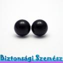 16 mm-es biztonsági szem fekete 2 db (1 pár), Gomb, Szépen csillogó felületű, szemet gyönyörködtető biztonsági szemek mosás- és gyerekbiztos hátsó réssz..., Alkotók boltja