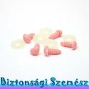 10 mm-es biztonsági orr pink 5 db, Gomb, Alkotók boltja