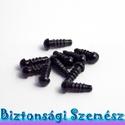 5 mm-es biztonsági szem fekete 10 db (5 pár), Gomb, Alkotók boltja