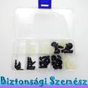 Biztonsági szem válogatás - dobozos 4.5, 6, 9, 12, 15 mm 30 db (15 pár) , Gomb, Bábkészítés, mackóvarrás, Kötés, horgolás, Varrás, Szépen csillogó felületű, szemet gyönyörködtető biztonsági szemek mosás- és gyerekbiztos hátsó réss..., Alkotók boltja