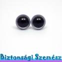 12 mm-es biztonsági szem ezüst 2 db (1 pár), Gomb, Bábkészítés, mackóvarrás, Kötés, horgolás, Varrás, Szépen csillogó felületű, szemet gyönyörködtető biztonsági szemek mosás- és gyerekbiztos hátsó réss..., Alkotók boltja