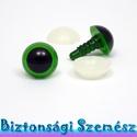 12 mm-es biztonsági szem zöld 2 db (1 pár), Gomb, Alkotók boltja