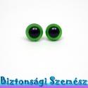 9 mm-es biztonsági szem zöld 2 db (1 pár), Gomb, Bábkészítés, mackóvarrás, Kötés, horgolás, Varrás, Szépen csillogó felületű, szemet gyönyörködtető biztonsági szemek mosás- és gyerekbiztos hátsó réss..., Alkotók boltja