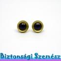 9 mm-es biztonsági szem aranysárga 2 db (1 pár), Gomb, Bábkészítés, mackóvarrás, Kötés, horgolás, Varrás, Szépen csillogó felületű, szemet gyönyörködtető biztonsági szemek mosás- és gyerekbiztos hátsó réss..., Alkotók boltja