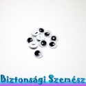 8 mm-es felvarrható mozgó rezgő szem 10 db (5 pár), Gomb, Szemet gyönyörködtető, mozgó (rezgő) felvarrható szemek.  Mennyiség: 10 db (5 pár) felvarrh..., Alkotók boltja