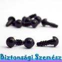 7 mm-es biztonsági szem fekete 10 db (5 pár), Szerszámok, eszközök, Eszköz kötéshez, horgoláshoz, Alkotók boltja