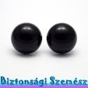20 mm-es biztonsági szem fekete 2 db (1 pár), Gomb, Szépen csillogó felületű, szemet gyönyörködtető biztonsági szemek mosás- és gyerekbiztos ..., Alkotók boltja