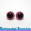 12 mm-es biztonsági szem rózsaszín 2 db (1 pár), Gomb, Bábkészítés, mackóvarrás, Kötés, horgolás, Varrás, Szépen csillogó felületű, szemet gyönyörködtető biztonsági szemek mosás- és gyerekbiztos hátsó réss..., Alkotók boltja
