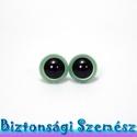 12 mm-es biztonsági szem metálzöld 2 db (1 pár), Szerszámok, eszközök, Eszköz kötéshez, horgoláshoz, Szépen csillogó felületű, szemet gyönyörködtető biztonsági szemek mosás- és gyerekbiztos ..., Alkotók boltja