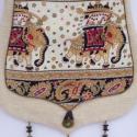 AKCIÓS!!! Fehér, elefántos fedeles táska, Táska, Ruha, divat, cipő, Baba-mama-gyerek, Válltáska, oldaltáska, Varrás, Hímzés, Vidám táska, az elefánt mintát kedvelőknek!  Fehér dekorszövetből készült, csepp formájú táska, mel..., Meska