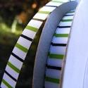 Zöld-fekete csíkos szatén szalag 9mm/20m, Textil, Szalag, pánt, Varrás, Szalag, Textil, Zöld-fekete csíkos 9mm-es egyoldalas szatén szalag, mely kiváló virágkötőknek, ajándék díszítésére,..., Alkotók boltja