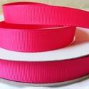 Azálea rózsaszín bordázott kétoldalas szatén szalag 13mm/20m, Textil, Szalag, pánt, Alkotók boltja
