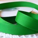 Zöld bordázott kétoldalas szatén szalag 13mm/20m, Textil, Szalag, pánt, Varrás, Szalag, Textil, Zöld bordázott 13mm-es kétoldalas szatén szalag, mely kiváló virágkötőknek, ajándék és meghívó kész..., Alkotók boltja