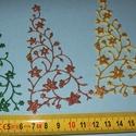 Díszíthető karácsonyfa, Dekorációs kellékek, Figurák, Dekorgumi,  Mesésen csillogó felületű, 2 mm vastag  glitteres dekorgumiból készült karácsonyi applikáció, dísz..., Alkotók boltja
