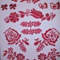 Ókalocsai felvarrható minta, Dekorációs kellékek, Textil, Hímzés, Kézi hímzésű ókalocsai felvarrók, bármilyen anyagra, ruhára, cipőre ,táskára, menyasszonyi ruhára, ..., Alkotók boltja