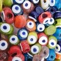 Üveggyöngyök - kézzel készült egyenként, Üveg, Ékszerkészítés, Varrás, Gyöngy, A nazar talizmán gyöngyöket Törökországban hagyományosan épített, tapasztott kemencében hagyományos..., Alkotók boltja