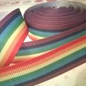 22 mm-es szivárvány mintás grosgrain szalag, Textil, Szalag, pánt, Varrás, Szalag, 22 mm széles szalag nyomott mintával  Az ár egy méterre vonatkozik.   Nézd meg a többi termékemet! ..., Alkotók boltja