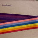 szivárvány színű gumiöv, Textil, Ennek a  szivárvány színű gumira, csak övcsatot kell tenni és kész a gumiöv. Van hozzá való övcsatom..., Alkotók boltja