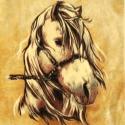 Olcsóbban! a lófejes anyagblokk, Textil, Vászon, Varrás, Textil, Most 430 Ft-ért lehet a tied ez a kedves lovas anyagblokk 470 Ft helyett!  Van még a boltomban több..., Alkotók boltja