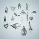Vintage és romantika - antikolt ezüst színű vintage függő (medál) gyűjtemény, Gyöngy, ékszerkellék, Fém köztesek, Ékszerkészítés, Különleges romantikus, vintage medál válogatás!!!  A romantika és vintage jegyében szerint válogatt..., Alkotók boltja