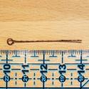 Antik rézszínű hurkos szerelőpálca 25 db/cs, Gyöngy, ékszerkellék, Szerelőpálca, Ékszerkészítés, hossza: 4 cm átmérője: 0,7 mm hurok: 2 mm anyaga: galvanizált fém színe: antikolt sárgaréz vagy ant..., Alkotók boltja