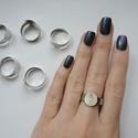 6 db Állítható gyűrű alap , Csat, karika, zár, Ékszerkészítés, 6 darab ezüst színű állítható gyűrű alap, melynek legkisebb átmérője 1,7 cm, de tágítható., Alkotók boltja