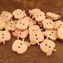 Alma alakú natúr fa gombcsomag - 20 db (22 Ft/db), Gomb, Fa, Natúr színű, fából készült, alma alakú gombcsomag. A csomag 20 db gombot tartalmaz.  Méret: ~ 1,5 cm..., Alkotók boltja