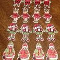 Karácsonyi vegyes gombcsomag 4x4 - 16 db (20 Ft/db), Dekorációs kellékek, Gomb, Karácsonyi formájú és mintájú vidám fagombok. Ünnepi dekorálásra tökéletes mind Mikulásra, mind Kará..., Alkotók boltja
