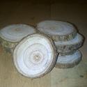 Fakorong - szivarfa, Fa, Famegmunkálás, 3-6 cm átmérő, 7 mm vastag fakorong. 1 csomag 10 darabot tartalmaz. Az Egyesült Államok délkeleti r..., Alkotók boltja