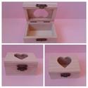 Mini fadobozka szív kivágással, Fa, Egyéb fatermék, Alkotók boltja