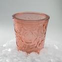 Rózsa dombormintás gyertyapohár, Díszíthető tárgyak, Vegyes alapanyag, Üveg, Gyertya, - 150ml űrtartalom  - 100-120 gr viasz kényelmesen elfér benne  Ha vásárolsz a pohár mellé ka..., Alkotók boltja
