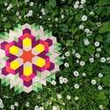 Textil mozaik matrica készlet - MANDALA I., Textil, Dekorációs kellékek, Mozaik, Mindenmás, A caraWonga mandalái egy olyan DIY készlet, mely öntapadós, színes textil mozaik darabkákat tartalm..., Alkotók boltja